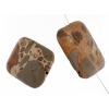 African Map Jasper 30x40mm Rectangle 4Pcs Approx